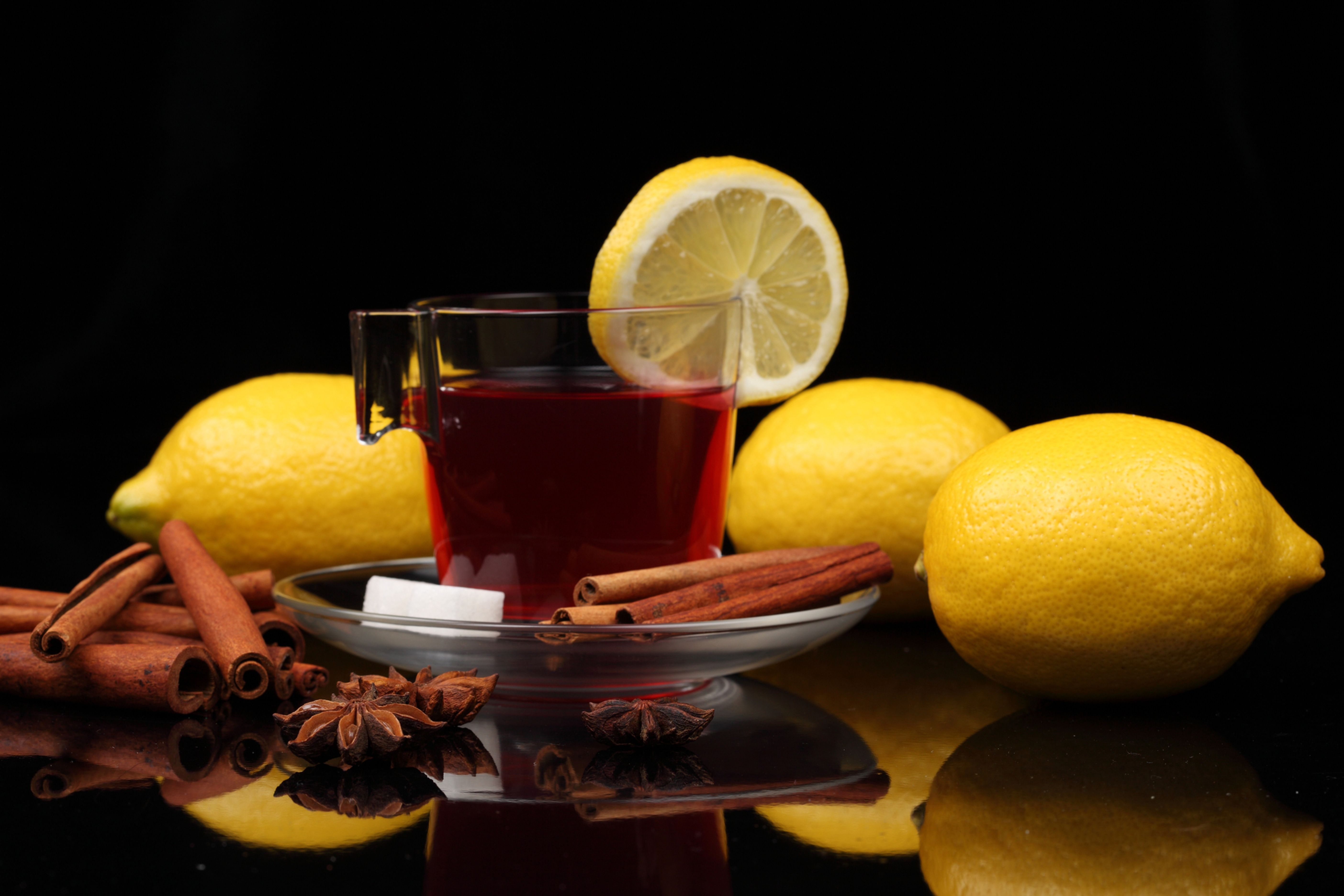 пирожные лимоны чай  № 3678347  скачать