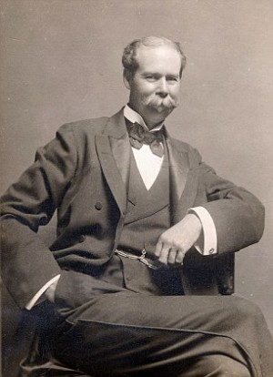 Sir Thomas Johnstone LIPTON, 1850-1931, Scottish tea merchant and yachtsman, founded Lipton Challenge Cup Regatta, photograph