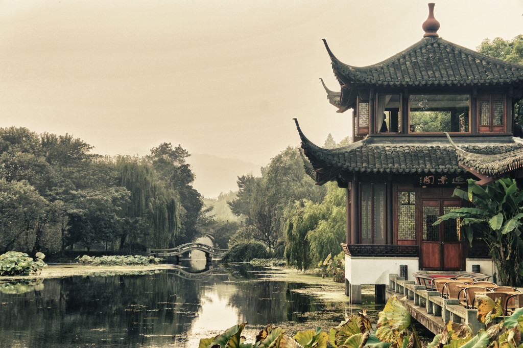 teahouse at West Lake