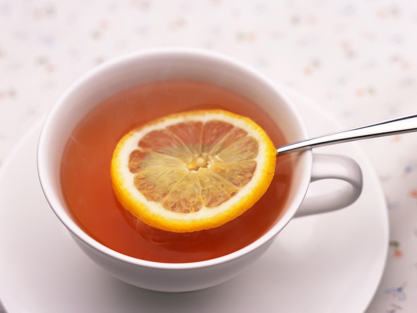 представлен картинка кружка чая с лимоном тех пор амеба