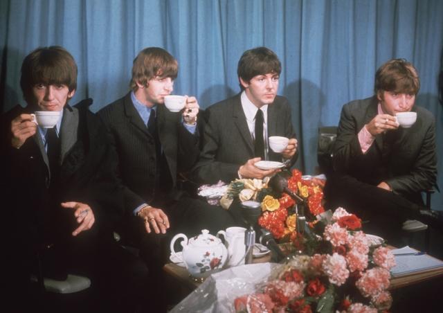 Mop Tops Take Tea