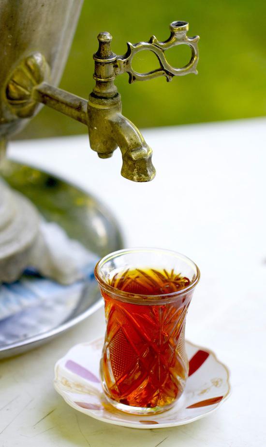 Samovar Tea in Ismayilli Region, Azerbaijan